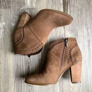 Vince Camuto Fritan Brown Heeled Ankle Booties 8